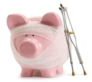 hurt piggy bank